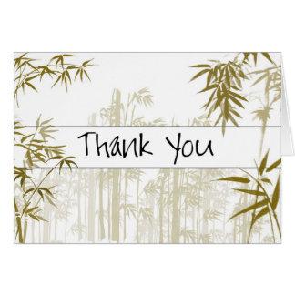 Bambus danken Ihnen zu kardieren Karte