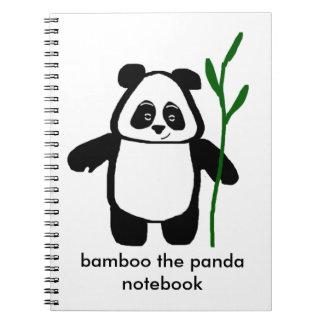 Bambus das Panda-Notizbuch Notizblock