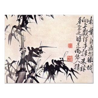 Bambus durch Hsü Wei (beste Qualität) 10,8 X 14 Cm Einladungskarte