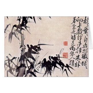 Bambus durch Hsü Wei (beste Qualität) Grußkarte