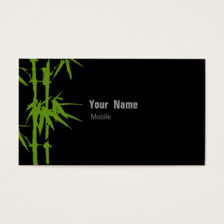 Bambus-Grün Visitenkarte