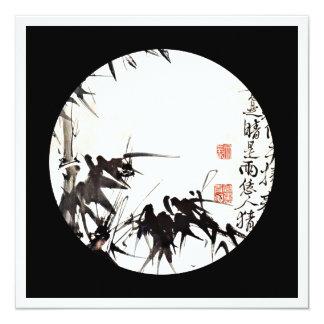 Bambus HSUs Wei Xu Wei Quadratische 13,3 Cm Einladungskarte