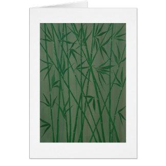 """Bambus "" Karte"