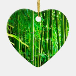 Bambus Keramik Herz-Ornament