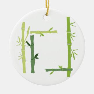 Bambus Keramik Ornament