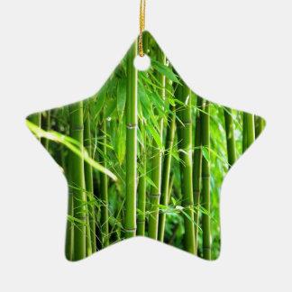 Bambus Keramik Stern-Ornament