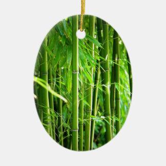 Bambus Ovales Keramik Ornament
