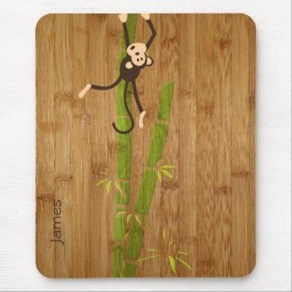 Bambus und Affe lustiges Mousepad