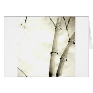 Bambus und Blätter Karte