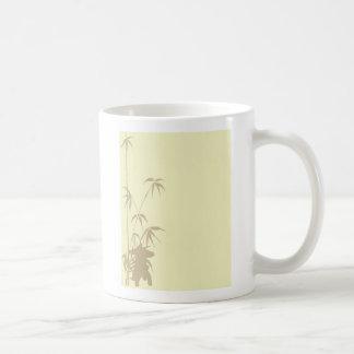 Bambus- und japanische Laterne Kaffeetasse