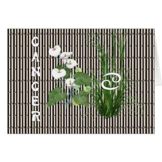 Bambus-und Lilien-Krebs Karte