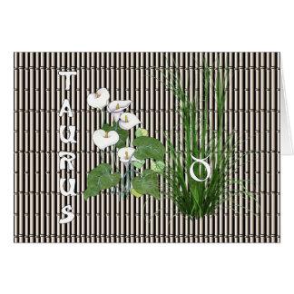 Bambus-und Lilien-Stier Karte