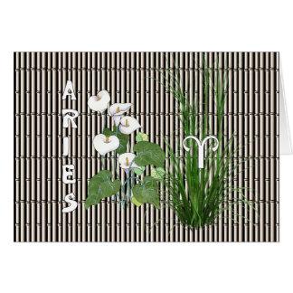 Bambus-und Lilien-Widder Karte