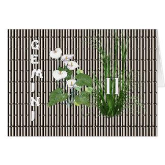 Bambus-und Lilien-Zwillinge Karte