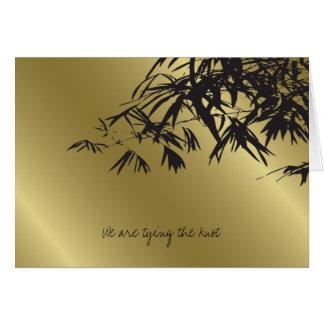 Bambus verlässt schwarze karte