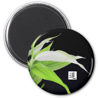 Bambus verlässt viel Glück Glück-Magneten Runder Magnet 5,1 Cm