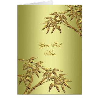 Bambusauslese-Avocado-grünes Gold elegant Karte