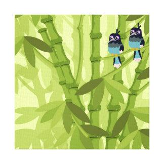 Bambusbaumillustration Entwurf Leinwanddruck