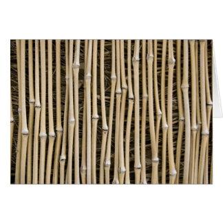 Bambusbeschaffenheit Karte