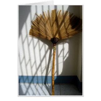 Bambusbesen Grußkarte