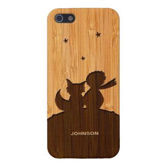 Bambusblick u gravierter kleiner Prinz und Fox iPhone 5 Cover
