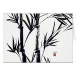 Bambuskunst notecard karte