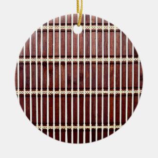 Bambusmattenbeschaffenheit Keramik Ornament