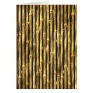 Bambuspolen gemustert karte
