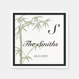 Bambusschönheits-Hochzeit Papierservietten