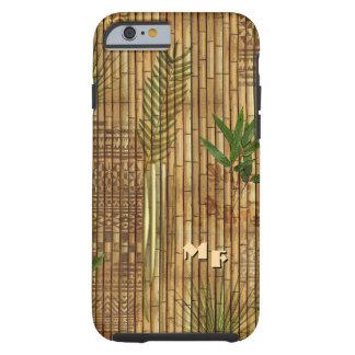 Bambustapa-Stoff mit (oder außen) Ihren Initialen Tough iPhone 6 Hülle
