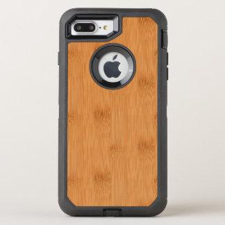 Bambustoast-hölzerner Korn-Blick OtterBox Defender iPhone 8 Plus/7 Plus Hülle