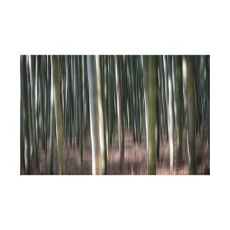 Bambusunschärfe Leinwanddruck