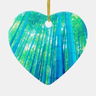 Bambuswald-Reihe Keramik Herz-Ornament