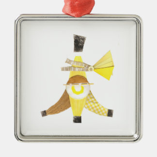 Banana- splitprämien-Verzierung Silbernes Ornament