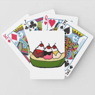 Banana- splitsüße Eiscreme-Leckerei Bicycle Spielkarten