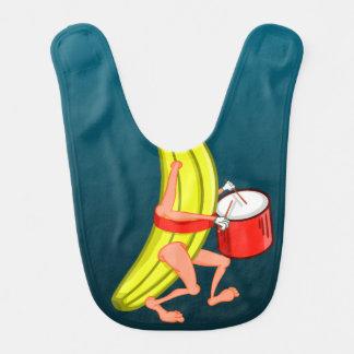 Banane, die mit einem Trommel-Muster marschiert Babylätzchen