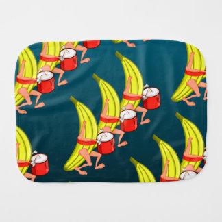 Banane, die mit einem Trommel-Muster marschiert Spucktuch