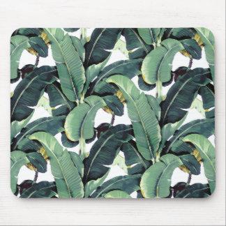 Banane verlässt Palme tropisches Mousepad