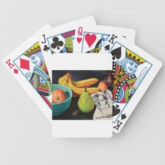 Bananen-Apple-Birnen-Stillleben Bicycle Spielkarten