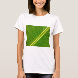 Bananen-Blatt-Makro T-Shirt