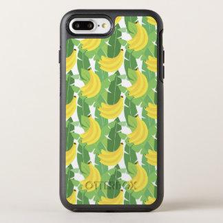 Bananen-Blätter und Frucht-Muster OtterBox Symmetry iPhone 8 Plus/7 Plus Hülle