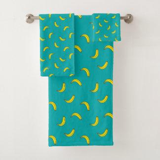 Bananen-Druck Badhandtuch Set