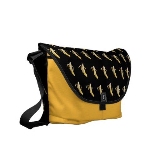 Bananen-Muster - kundenspezifische Bote-Tasche Kuriertaschen