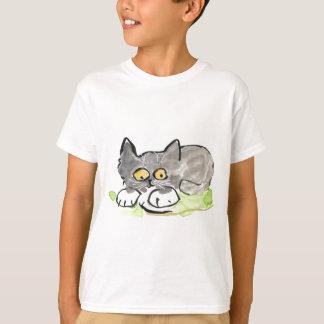 Bananen-Schnecke und kleines graues Kätzchen T-Shirt