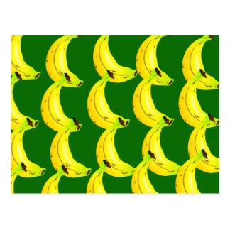 Bananen-Tapete Postkarte