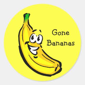 Bananen-Typ gegangene Bananen Aufkleber