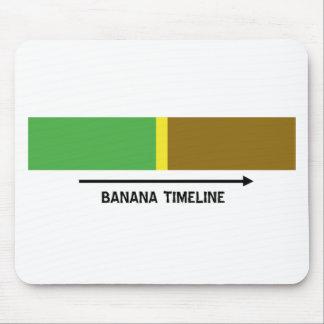 Bananen-Zeitachse Mousepad