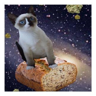 Bananenkuchen kat poster