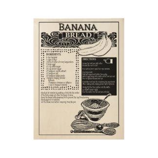 Bananenkuchen-Rezept Holzposter
