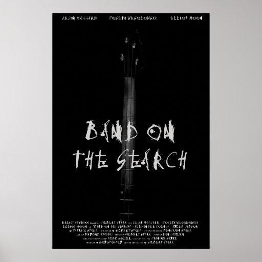 Band auf dem Suchplakat Plakate
